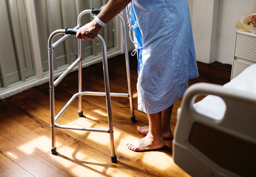 man with walker, personal injury attorney